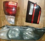 Передние и задние фары БМВ х5 2003 г