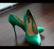 Туфли зеленые