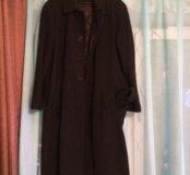 Пальто мужское, длинное, с утеплённой подстежкой