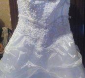 Продам свадебное платье размер 44-42