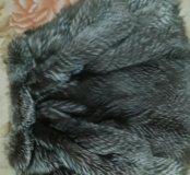 Шуба чернобурка