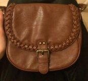 Коричневая сумка через плечо