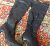 сапоги женские р-р 39 одеты два раза ,зима