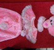 Новогодний костюм розовый пудель