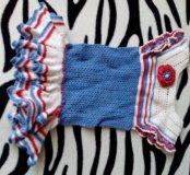 Вязаное платье и шляпка