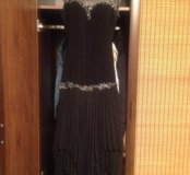 Вечернее платье эффектное с гипюровым лифом