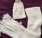 Шапочка с шарфиком новые