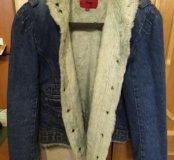 Новая утеплённая куртка с мехом