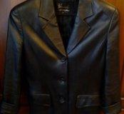 Кожаная куртка-пиджак р.42