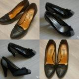 Bronx кожаные и трехцветные туфли