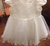 Детское платье с накидкой