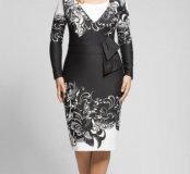 Платье из плотной ткани стрейч