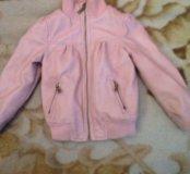 Курточка кожа зам . 2-3 года