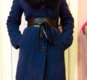 Новое зимнее драповое пальто