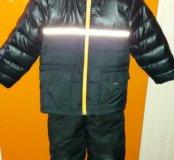 Комбез зимний (куртка Адидас), 98-104см