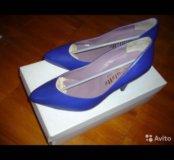 Туфли женские синие. Новые. Размер 36.