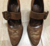 Туфли из варёной кожи