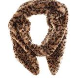 Шарф из искусственного меха  H&M леопардовый