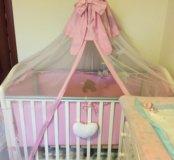 Комплект в кроватку для принцессы+подарок