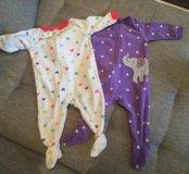 Одежда для девочки 0-9 месяцев
