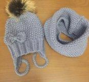 Комплект шапка+ снуд