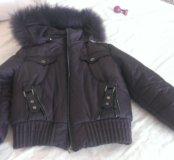 Куртка зима,мех натуральный,р-44-46