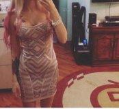 Платье беж