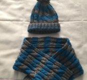 Детский комплект(шапка, шарф)2-4 года