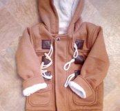 Новое пальто детское,на рост 92-98