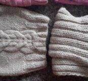 2 шапки с шарфиками