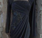 Очень красивое платье шоколадного цвета.