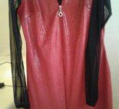 Платье блестящее. блузка.