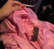 Палантин нежно розовый