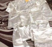Пижама шелковая новая