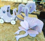 Лошадка качалка полка в детскую коляска для кукол
