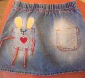Юбка джинсовая глория джинс рост 104