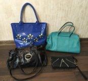 Коллекция кожаных сумок натуральная кожа