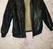Куртка из кожзама с мехом