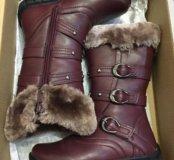 Новые сапожки для девочки зима
