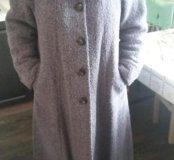 Новое драповое пальто