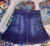 Джинсовая юбка,размер 46