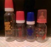 Бутылочки новые из стекла