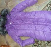 Новый зимний,оч.теплый пуховик на рост 146