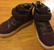 Для девочки, утеплённые ботинки