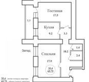 Продам 2-х комн квартиру в центре города