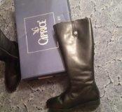 сапоги кожаные новые caprice