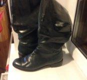Продаю кожаные сапоги, Respekt в подарок туфли