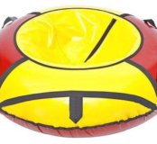 Сноутюбинг: санки-ватрушка 125см красно-желтый