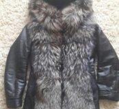 Куртка чернобурка зима