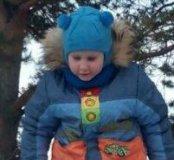 Теплый зимний шлем 3-7 лет